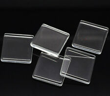 Clear Square Flat Glass Tiles Cabochons - Flat on Both Sides  - FREE SHIPPING