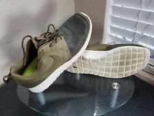 Nike Roshe Run Woven Mens Size 9 Squadron Green Birch Running Shoes