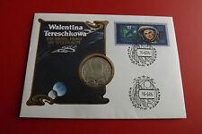 *Russland 1 Rubel 1983 PP(Original)*Tereschkowa -Weltraum in Numisbrief* (ALB12)