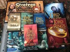 LORD OF THE RINGS FILM TRILOGY BOOKS,+TWO BOOKS +STRAGEO + TRIVIAL PURSUIT+VHS