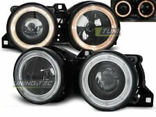 Headlights for BMW E30 82-94 Angel Eyes Black UK RHD/LHD LPBM23-ED XINO