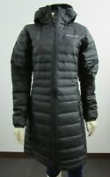 NWT Womens Columbia Mckay Lake Long Down Hooded Insulated Puffer Jacket - Black