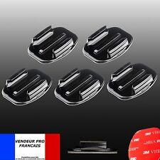 LOT 5 Supports GOPRO plats casque Fixation Go Pro hero 3 4 5 6 7 8 flat mount 3M