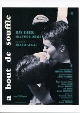 092 CARTE POSTALE film A BOUT DE SOUFFLE deJL Godard avecJean Seberg JP Belmondo