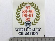 Sticker / Aufkleber, Lancia World Rally Champion 87-92 Lorbeerkranz, transparent