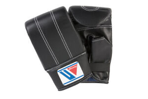 Authentic Winning Boxing Bag Mitts Open Thumb Gloves Rubber band type Black JPN