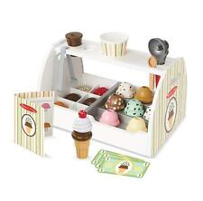 MELISSA & DOUG WOODEN SCOOP AND SERVE ICE CREAM COUNTER PRETEND PLAY TOY NEW
