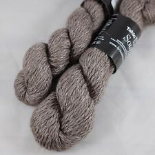 2 x 50g Tahki Souffle Angora Merino Wool Viscose Yarn Lot Worsted wt Mocha Knit