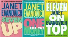Janet Evanovich Lot of 3 Paperbacks Seven Up, One for the Money & Eleven on Top