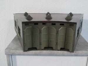 H0 Märklin 7028 3-ständiger Lokschuppen Blech Türautomatik Ringlokschuppen 60er