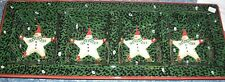 Certified Intl Barton Star SNOWMAN snowballs RELISH 4 part TRAY christmas