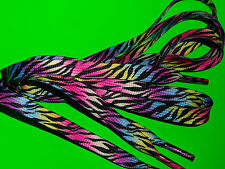 SHOELACES 115CM ZEBRA RAINBOW  LACES ** IN AUSTRALIA ** BOOTLACES SHOE LACE TIES