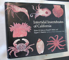 INTERTIDAL INVERTEBRATES CALIFORNIA crab nudibranch starfish shell book color pl