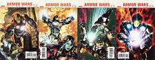 ULTIMATE ARMOR WARS  #'s 1,2,3,4 COMPLETE FULL RUN  NM/M