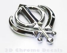 Khanda Sikhs Symbol Car 3D chrome decal sticker