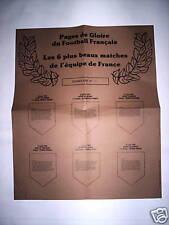 RARE AFFICHE FANIONS LES 6 + BEAUX MATCHES EQ. FRANCE