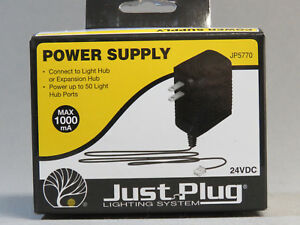 WOODLAND SCENICS POWER SUPPLY FOR JUST PLUG LIGHTING SYSTEM wds 24 VDC WDS5770