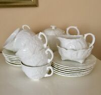 Complete Tea Set Genuine Coalport Countryware Cabbage Leaf Design