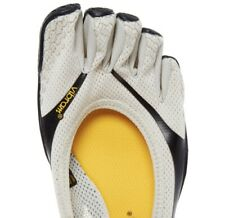 VIBRAM Five Fingers Black & White Trainers UK4, EU37 Free POSTAGE FOR 2 PAIR
