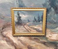 Spannender Impressionist: Landschaft im Gebirge. Altes Ölgemälde, sign. J.COPAYE
