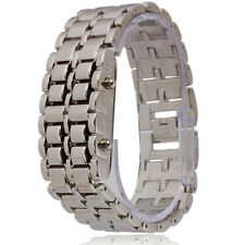 Men's Elegant Stylish Rectangle Dial Red LED Light Digital Display Wrist Watch