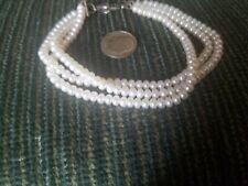 RARE 3 Strand Beaded  Bracelet fGENUINE ROUND  pearls, BRACELET