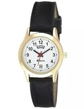 Ravel Ladies Day Date Watch With Black Strap & Bold Number White Face RO706.19.2