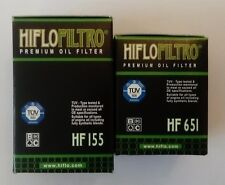 KTM Duke 690 (2012 to 2017) 1ST & 2ND HifloFiltro Oil Filters (HF155 & HF651)