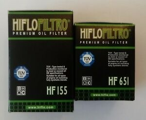 Hiflofiltro 1st and 2nd Oil Filters Fits KTM 690 ENDURO R (2012 to 2021)