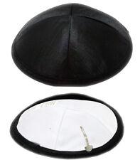 Lot 10  Satin Yarmulke Jewish Kippah Kippa Israel Judaica Yarmulka Yamaka Black