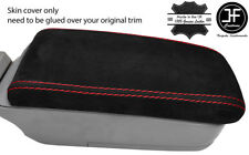 RED STITCH REAL SUEDE ARMREST LID COVER FITS SUBARU FORESTER SG9 2006-2008