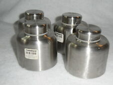 Crate & Barrel Stainless Steel Stacking Spice Cans 409-863 Lot Of 4