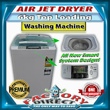 NEW! 6KG Wash/Spin Top Loading Washing Machine with Unique Air Jet Dry System