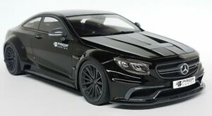 GT Spirit 1/18 Scale - Prior Design Mercedes Benz S Class Coupe AMG Black Car