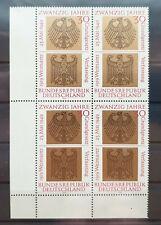 Bund 1969 ** Mi 585 Bundesrepublik Eckrandviererblock 4er Ecke unten links (1175