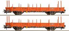 """Roco 67134  2-teiliges Set Rungenwagen """"Wascosa"""" Bauzugwagen, Epoche 5/6,KKK+NEM"""