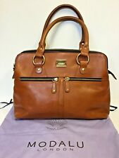 MODALU LONDON CHESNUT  BROWN LEATHER PIPPA TOTE BAG COST £249