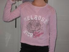 H&M Sweat SHIRT kurz GLITZER rosa Gr. 146 152 TIGER wie NEU