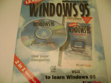 WINDOWS 95 TUTORIAL 2 in 1 CD or VCR NEW MINT IN BOX LEARN COMPU WORKS