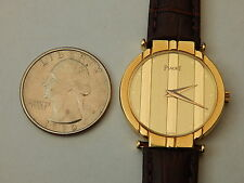 GENUINE PIAGET SOLID 18K YELLOW GOLD 27MM LADIES POLO RONDE WATCH