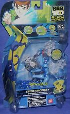 "BEN 10 Alien Force 5"" Deluxe Spidermonkey Bandai New Factory Sealed 2009"