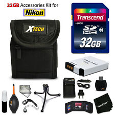 32GB ACCESSORIES Kit for Nikon S800C w/ 64GB Memory + Battery + Case