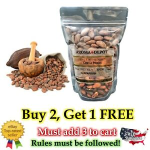 1 lb / 16oz Raw Cacao / Cocoa Beans Raw Chocolate Arriba Nacional Bean