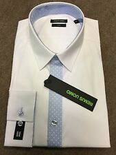 "Remus Uomo Spot Front/Slim Fit Shirt/White - 17.5"" (XL)"