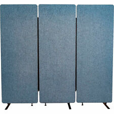 Luxor Reclaim Acoustic Room Dividers 3-Pack Pacific Blue 72inW x 66inH X 1.25inD