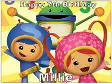 "Team Umizoomi Cake Topper Personalised Edible Wafer Paper A4 7.5"" By 10"""