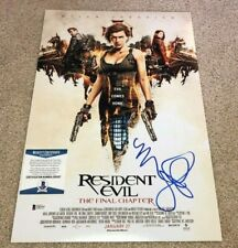 MILLA JOVOVICH SIGNED RESIDENT EVIL FINAL 12X18 MOVIE POSTER PHOTO ALICE BAS