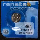 Renata 364 Battery (SR621SW) Swiss Made 1 pc