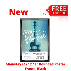 """12"""" x 18"""" Trendsetter Wall Poster Picture Photo Hanging Frame in Black, New"""