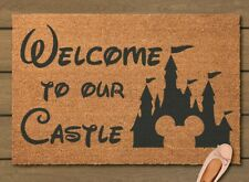 Hand Painted Welcome to our Castle Door Mat - Disney
